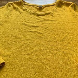 Mustard Yellow Pullover Crew Neck Sweater